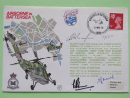 Great Britain 1978 Signed Military Special Cover From Battersea To U.K. - Helicopter - Machin - Lion - 1952-.... (Elizabeth II)