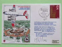 Great Britain 1978 Signed Military Special Cover From Bruggen BFPO 25 - Wegberg Germany BFPO 33 To U.K. - Plane - Corona - 1952-.... (Elizabeth II)