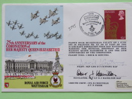 Great Britain 1978 Signed Military Special Cover From Wattisham To U.K. - Plane - Queen Coronation - Palace - - 1952-.... (Elizabeth II)