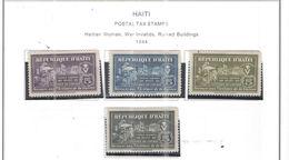 Haiti 1944 Postal Tax Valori 4 Nuovi Scott.RA01/04 See Scans - Haiti