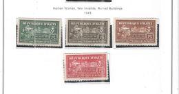 Haiti 1945 Postal Tax Valori 4 Nuovi Scott.RA05/08 See Scans - Haiti
