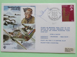 Great Britain 1978 Signed Military Special Cover From Stanmore Park To U.K. - Plane - Spitfire - J.H. Lacey - Queen Coro - 1952-.... (Elizabeth II)
