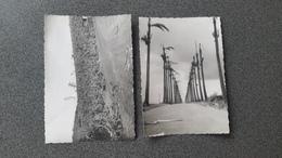 """2 PHOTOGRAPHIES DE GUADELOUPE PRISES APRÈS LE PASSAGE DE """" CLÉO """" OURAGAN - Lieux"""