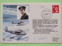 Great Britain 1978 Signed Military Special Cover From Scanpton To Cape Town South Africa - Plane - Machin - Marshal D.C. - 1952-.... (Elizabeth II)