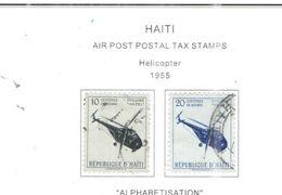 Haiti 1955 Postal Tax Valori 2 Usati Scott.RAC1+2 See Scans - Haiti