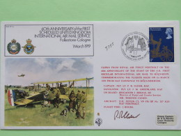Great Britain 1978 Signed Military Special Cover From Northolt To Koln Cologne Germany - Plane - Queen Coronation - 1952-.... (Elizabeth II)