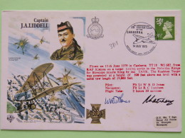 Great Britain 1979 Signed Military Special Cover From RAF Kinloss To U.K. - Plane - Captain J.A. Liddell - Machin Lion - 1952-.... (Elizabeth II)