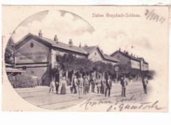 Grussbach- Schonau Tschechien  Station Gelaufen 1900  F876 - Tschechische Republik