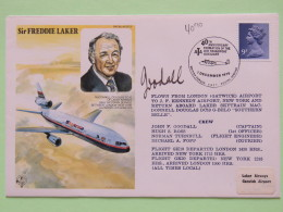 Great Britain 1979 Signed Military Special Cover From London To U.K. - Plane - Sir Freddie Laker - Machin - 1952-.... (Elizabeth II)