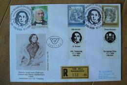 Autriche - Lettre Recommandée Du 17/01/1990 Yvert N° 1270 & 1381 Avec Publicité - Reklame Werbung - Judaïsme - Varietà & Curiosità