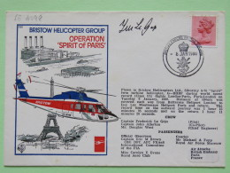 Great Britain 1980 Signed Military Special Cover From London - Paris (Issy Les Moulineaux) To London U.K. - Helicopter - - 1952-.... (Elizabeth II)