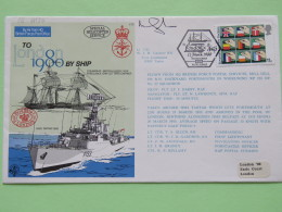 Great Britain 1980 Signed Military Special Cover From Ship HMS Tartar To U.K. - Helicopter - European Community Election - 1952-.... (Elizabeth II)