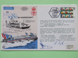 Great Britain 1980 Signed Military Special Cover From Dover - Boulogne - Dover U.K. - Hovercraft Ship - European Communi - 1952-.... (Elizabeth II)