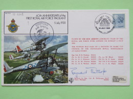 Great Britain 1980 Signed Military Special Cover From Cosford To U.K. - Plane - Acrobatic Flight - Machin Lion - 1952-.... (Elizabeth II)