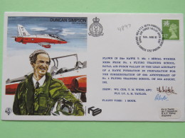 Great Britain 1981 Signed Military Special Cover From RAF Valley To U.K. - Plane - Duncan Simpson - Machin Dragon - Covers & Documents
