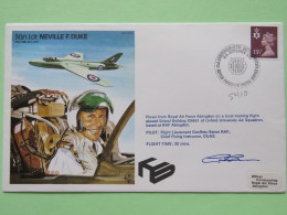 Great Britain 1982 Signed Military Special Cover From RAF Abingdon To U.K. - Plane - Neville F. Duke - Machin Hand - 1952-.... (Elizabeth II)