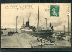 """CPA - SAINT NAZAIRE - Le """"ROCHAMBEAU"""", Paquebot De La C.G.T., Dans L'Avant Port - Saint Nazaire"""