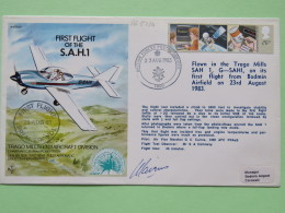 Great Britain 1983 Signed Military Special Cover From Bodmin Airfield To U.K. - Plane - Information Technology Informati - Covers & Documents