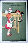 BARWICK  BISCUITS NANTAIS DUCASSE ET GUIBAL CHAT ET CREPE TENTATRICE - Künstlerkarten