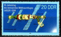 A11-42-6) DDR - Michel 3172 - ** Postfrisch (B)- 20Pf  Gemeinsamer Weltraumflug UdSSR-DDR I - DDR