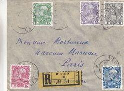 Autriche - Lettre Recom De 1908 - Oblit Wien - Exp Vers Paris - Briefe U. Dokumente