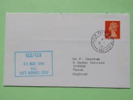 Great Britain 1991 Military Cover From Gulf War EPO 990 To U.K. - Machin - 1952-.... (Elizabeth II)