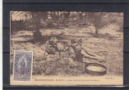 France - A.E.F. - Carte Postale De 1932 - Oblit Brazzaville - Moyen Congo - Exp Vers Anvers - Cartas