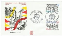 Andorre // FDC // 1981 //  Europa 1981 - FDC