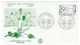 Andorre // FDC // 1981 //  Championat Du Monde D'escrime - FDC