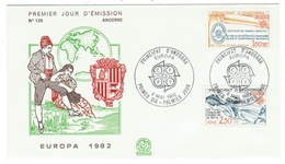 Andorre // FDC // 1982 //  Europa 1982 - FDC