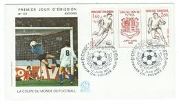 Andorre // FDC // 1982 //  La Coupe Du Monde De Football - FDC