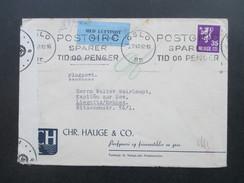 Norwegen 1943 Zensur Der Wehrmacht / Zensurpost / Luftpost Oslo - Liegnitz In Schlesien! Kapitän Zur See. Geöffnet - Norwegen