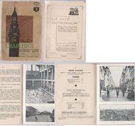 Charleroi  Guide 1936   Vues  Balle Au Tamis, Bassin Etc - Toeristische Brochures