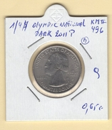 "USA. 1/4 $ ""Olympic National Park 2011 P"" (b). KM #496. Qualité. - 1999-2009: State Quarters"