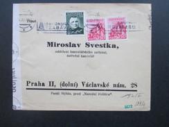 Slovensko/Slowakei 1941 Zensurpost/Zensur Der Wehrmacht/Mehrfachzensur.Grüner/roter Stempel. Nach Prag. Narodni Politice - Cartas