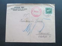 Österreich / Bosnien Zensurpost 1915 Rote Stempel: Überprüfungs Kommission Sarajevo. Hannover Porto. Bosnische Post. - Bosnien-Herzegowina