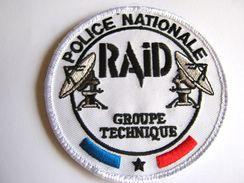 RARE INSIGNE TISSU PATCH POLICE NATIONALE LE RAID LE GROUPE TECHNIQUE ETAT EXCELLENT (SUR VELCROS) - Police