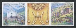 ANDORRE 2000  N° 531/532 ** Neufs MNH Superbes Cote 4 € Fête Des Canolic De Meritxell Eglise Churchs - Andorra Francesa