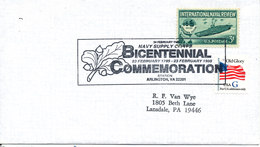 USA Cover Navy Supply Corps Bicentennial Commemoration  Arlington 25-2-1995 - Enveloppes évenementielles