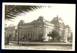 Chile - Santiago, Palacio De Bellas Artes / Foto. Th. Schenck / Postcard Circulated, 2 Scans - Chili