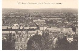 POSTAL    LYON  - FRANCIA  - VISTA GENERAL DE FOURVIÉRE ( VUE GÉNÉRALE PRISE DE FOURVIÉRE ) - Lyon
