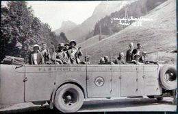 38  GRANDE CHARTREUSE CARTE PHOTO GROSSE AUTOMOBILE D'EXCURSION PLM ROUTE DES ALPES 1932 - Autobus & Pullman