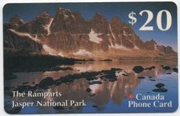 Canada Phone Card : The Ramparts Jasper National Park $20 - Canada