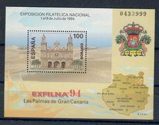 SPAIN Spagna Architecture 1994  Gran Canaria MNH Sheet Nuovo   Fra.1019 - 1931-Oggi: 2. Rep. - ... Juan Carlos I
