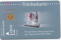 Telefonkarte Deutsche Telekom : Am T-Digit Auf Der EXPO 2000 - Germany
