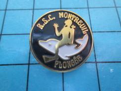 Pin511c Pin´s Pins / Beau Et Rare / SPORTS / Comme Louis Alliot PLONGEZ SOUS MARINE !!! MONTREUIL DAUPHIN PLONGEE - Diving
