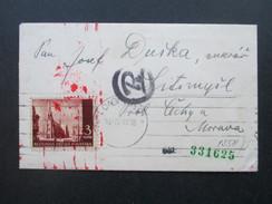 Kroatien 1941 Nach Tschechien Seltener Bedarf! Zensur Der Wehrmacht! Mehrfachzensur. R Stempel. RRR - Kroatien