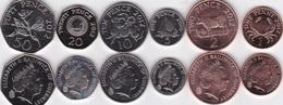 Guernsey - Set 6 Coins 1 2 5 10 20 50 Pence 2012 UNC Lemberg-Zp - Guernsey