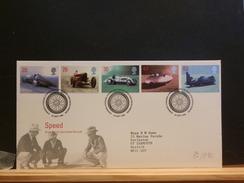 72/992   FDC  G.B. - Cars