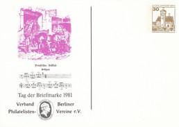 B PP 78/14**  Tag Der Briefmarke 1981 - Verband Berliner Philatelisten Vereine E.V. - Private Postcards - Mint